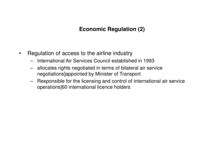 Economic Regulation (2)