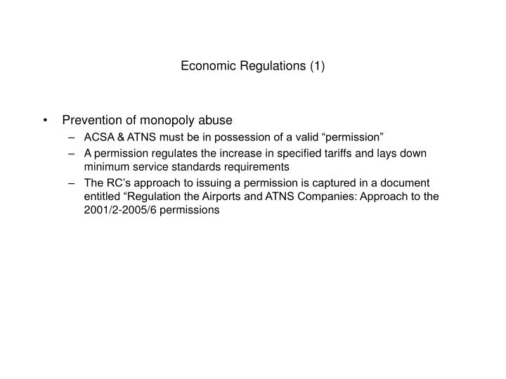 Economic Regulations (1)