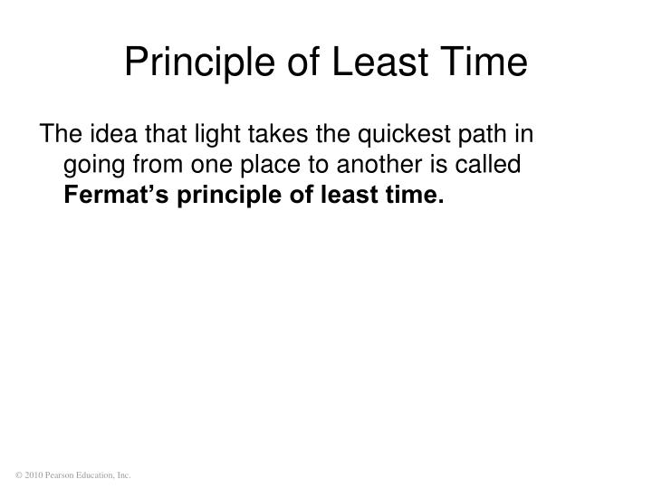 Principle of Least Time