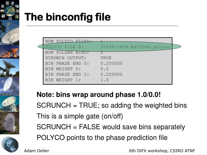The binconfig file