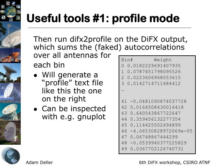 Useful tools #1: profile mode