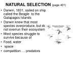 natural selection page 401