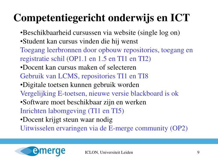 Competentiegericht onderwijs en ICT