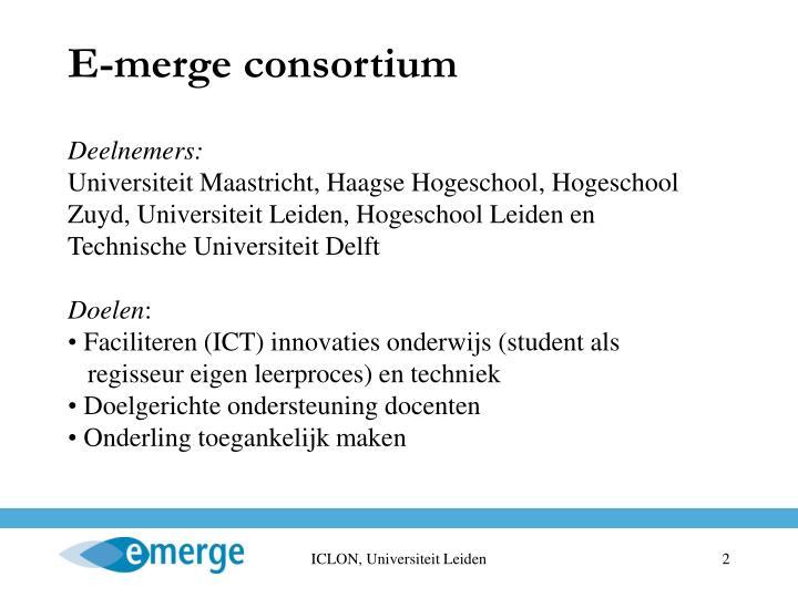 E-merge consortium