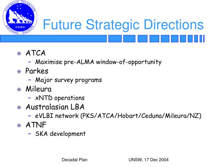 Future Strategic Directions