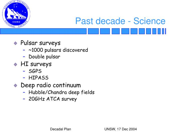 Past decade - Science