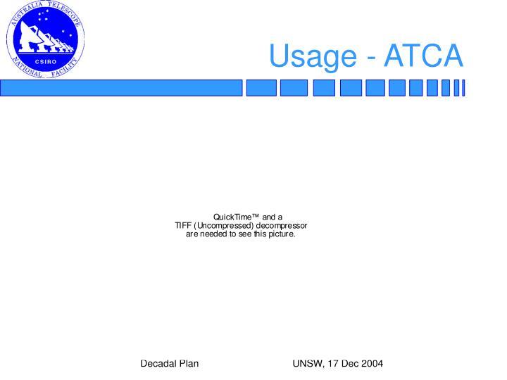 Usage - ATCA