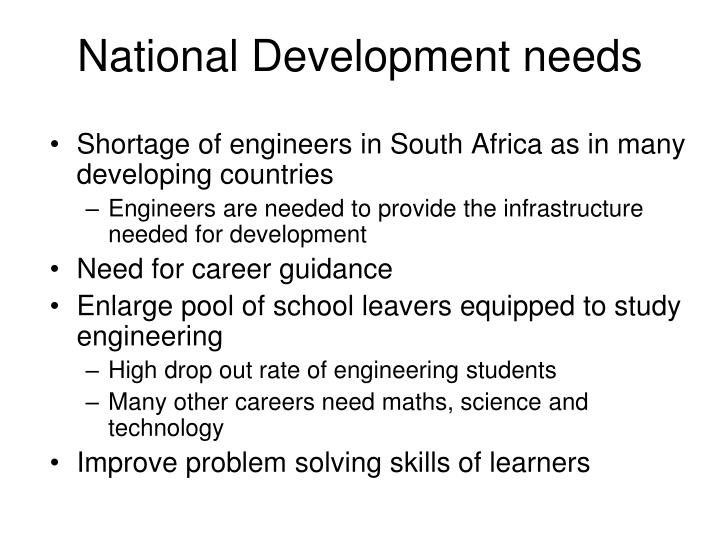 National development needs
