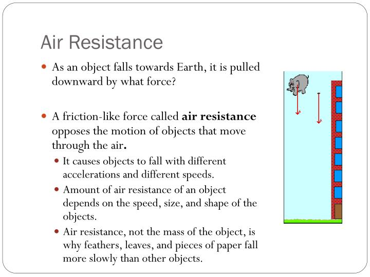 essay on air resistance The effect of air friction on a projectile by matt the purpose of this experiment is to explore the effect of air resistance on a projectile and to determine.