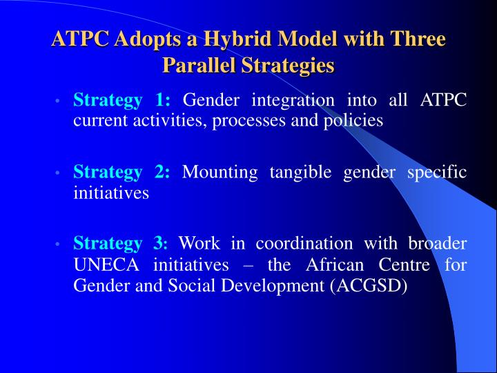 ATPC Adopts a Hybrid Model with Three Parallel Strategies