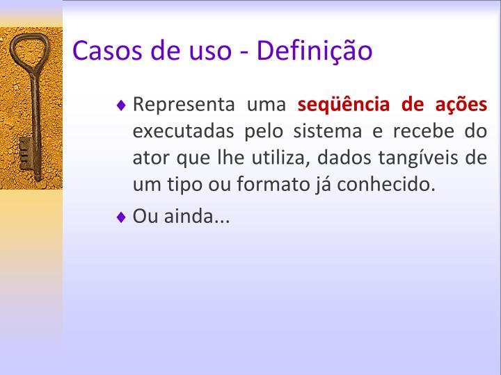 Casos de uso - Definição