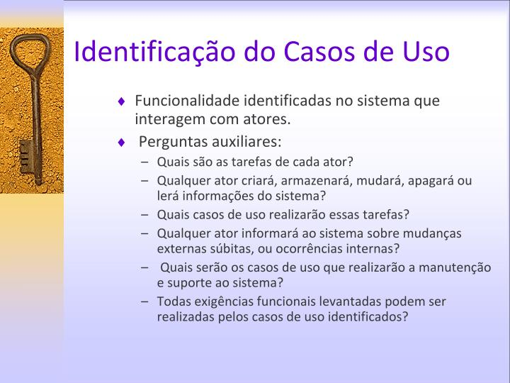 Identificação do Casos de Uso