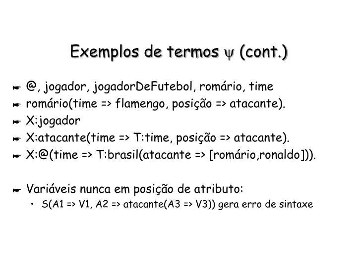 Exemplos de termos
