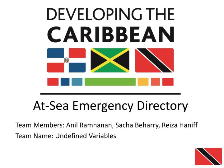 At sea emergency directory