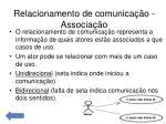 relacionamento de comunica o associa o