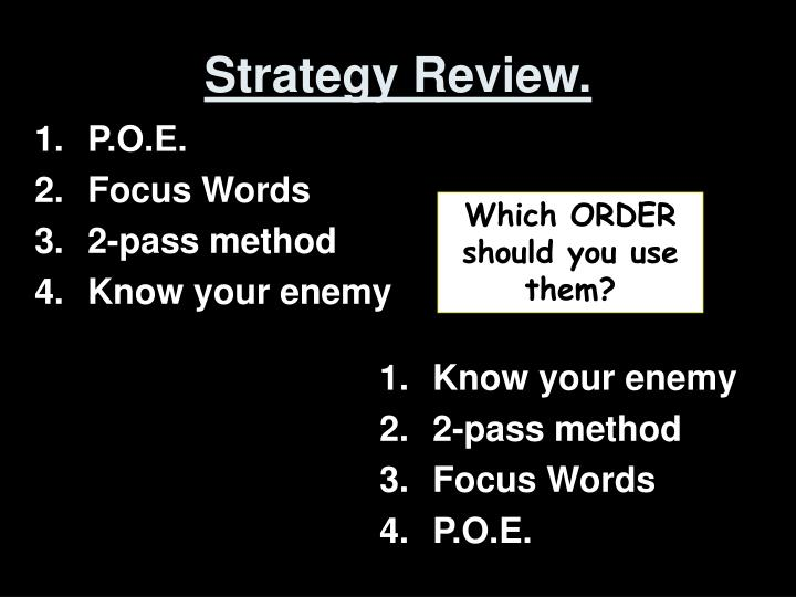 Strategy Review.