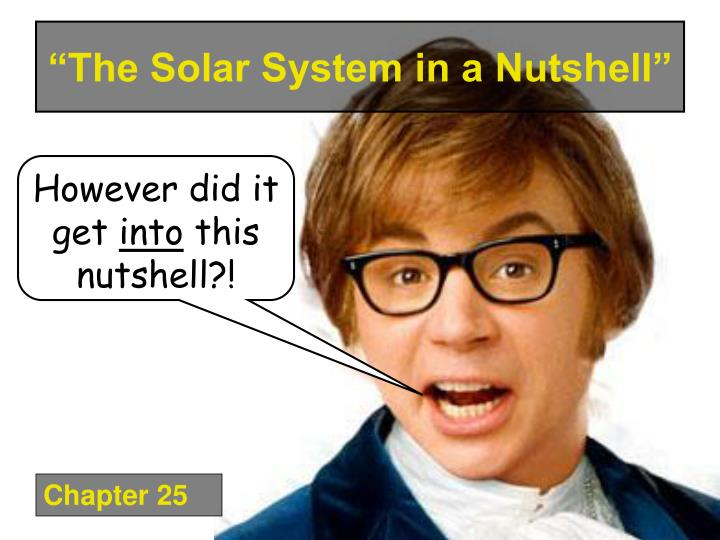 """The Solar System in a Nutshell"""