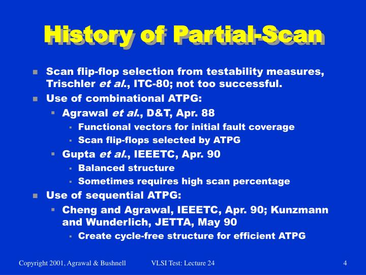 History of Partial-Scan