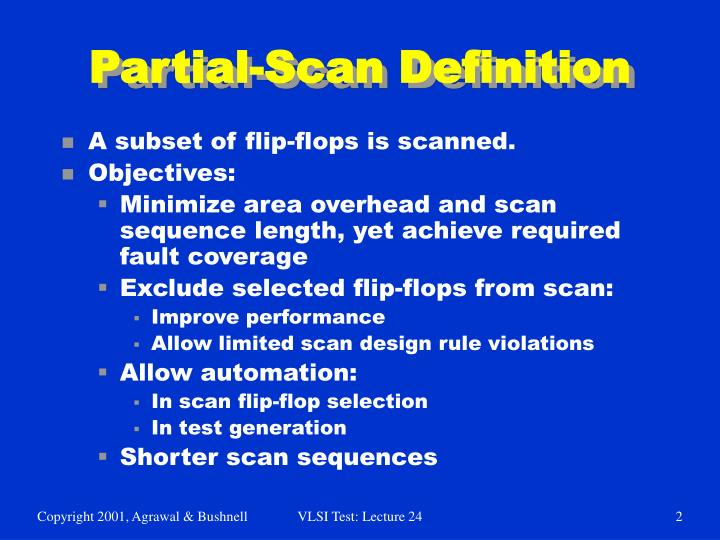 Partial-Scan Definition