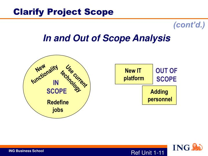 Clarify Project Scope