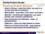 clarify project scope2