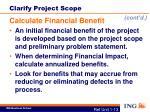 clarify project scope3