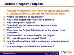define project tollgate
