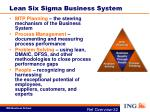 lean six sigma business system