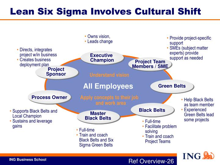 Lean Six Sigma Involves Cultural Shift