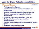 lean six sigma roles responsibilities2