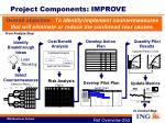 project components improve