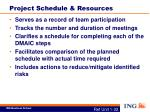 project schedule resources