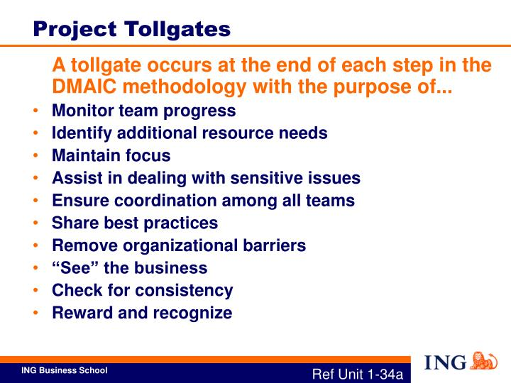 Project Tollgates
