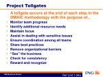 project tollgates