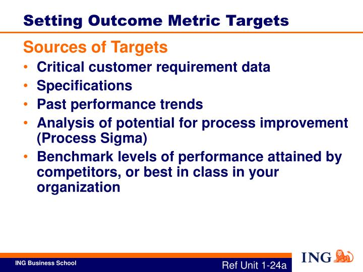 Setting Outcome Metric Targets