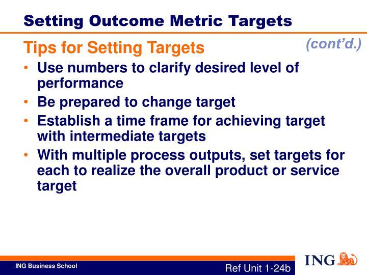 Setting Outcome Metric Targets