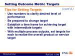 setting outcome metric targets1
