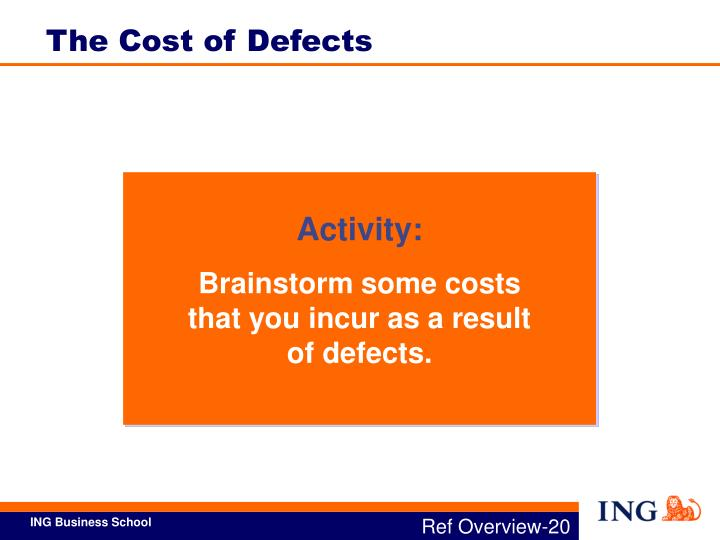 The Cost of Defects