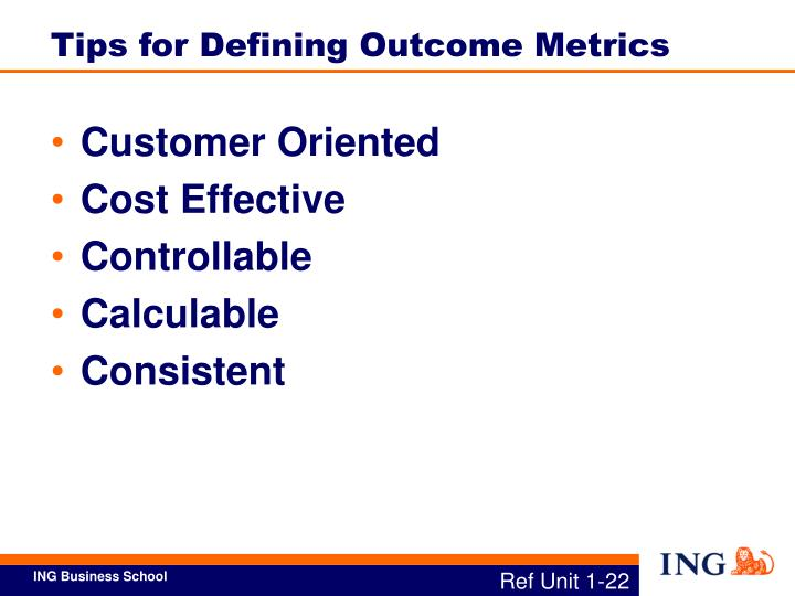 Tips for Defining Outcome Metrics