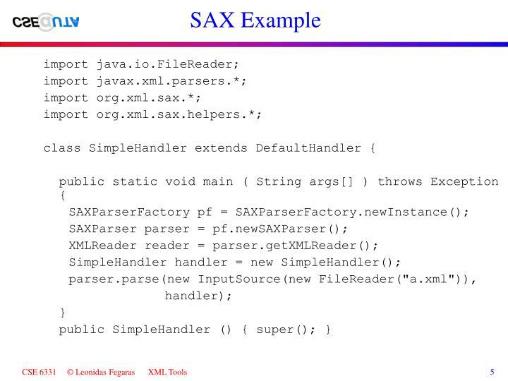 SAX Example