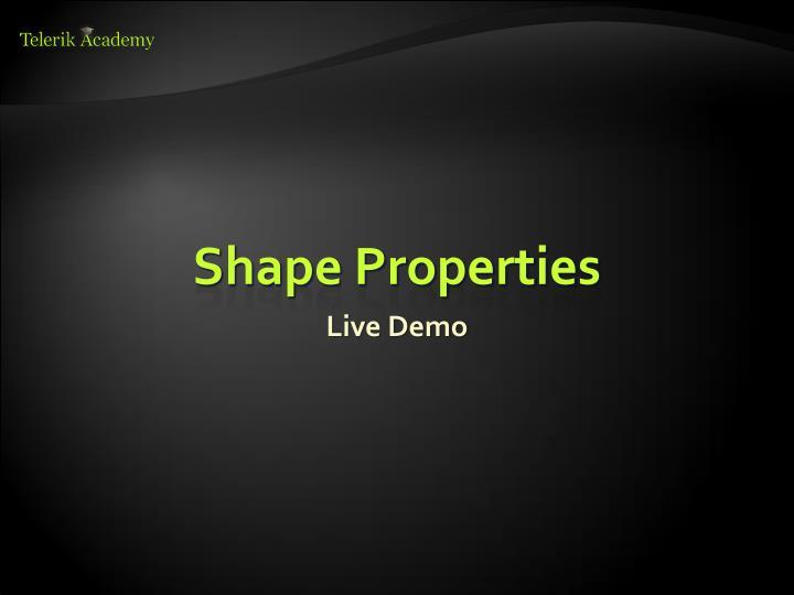 Shape Properties