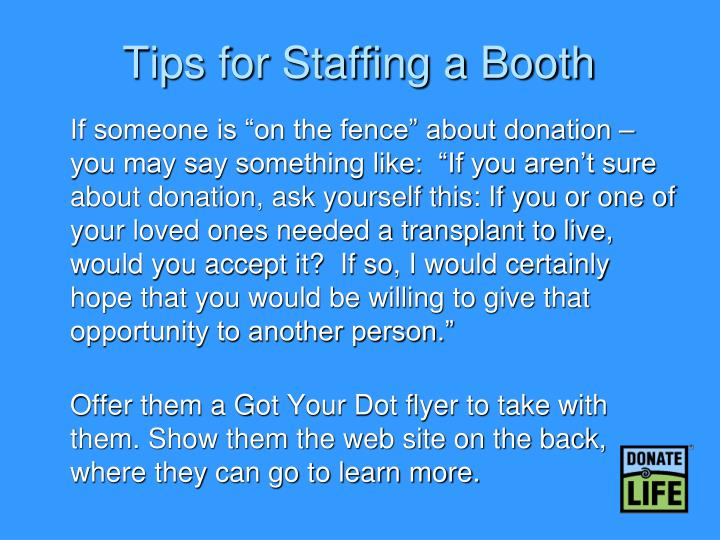 Tips for Staffing a Booth