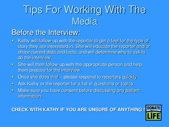 Tips For Working With The