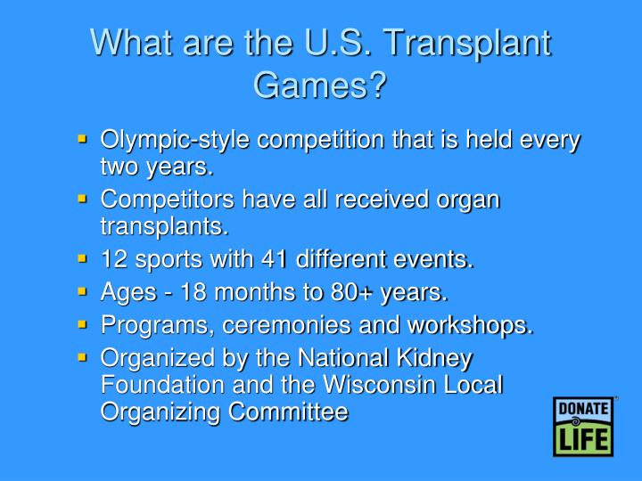 What are the U.S. Transplant Games?