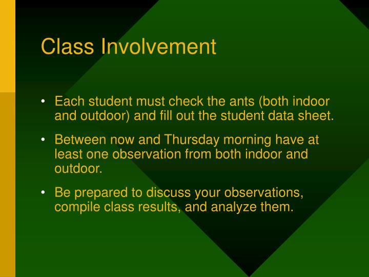 Class Involvement