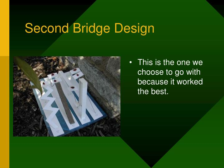 Second Bridge Design