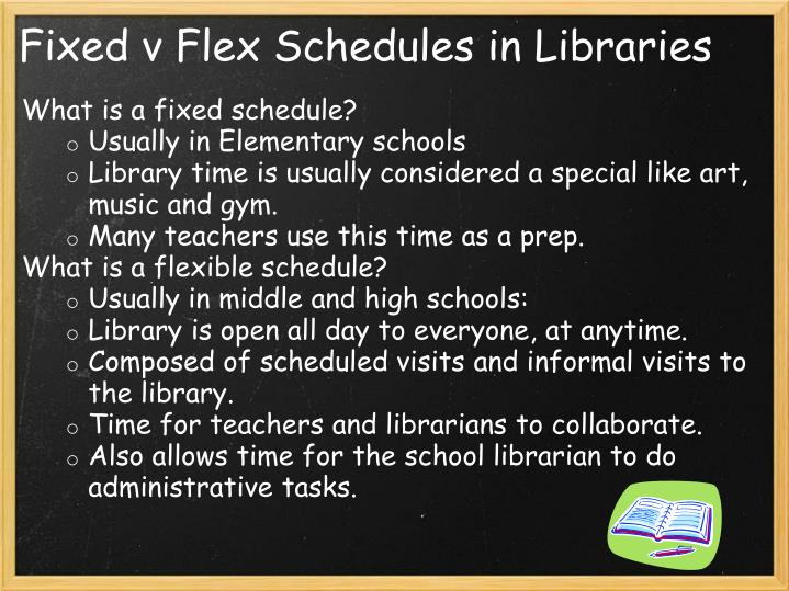 Fixed v Flex Schedules in Libraries