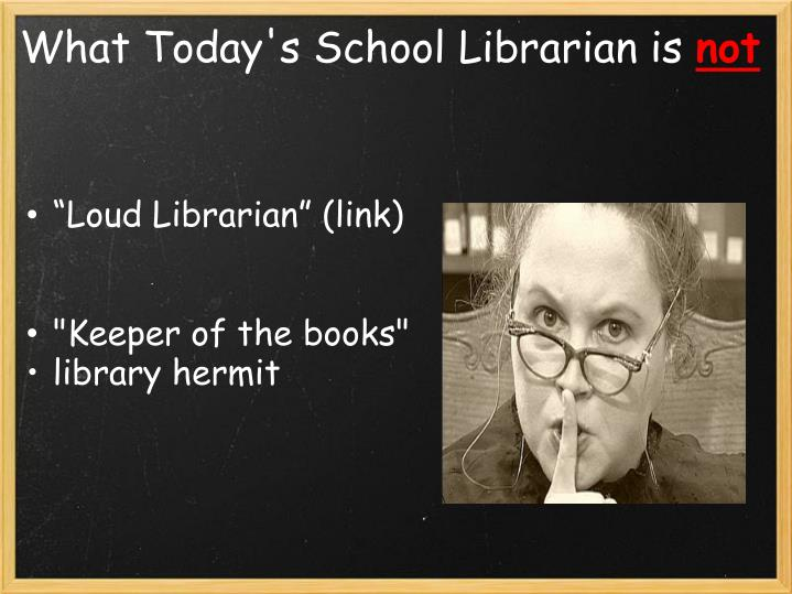 """Loud Librarian"" (link)"