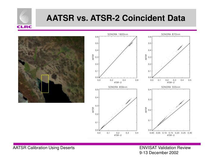 AATSR vs. ATSR-2 Coincident Data
