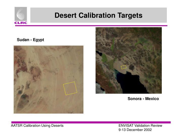 Desert Calibration Targets